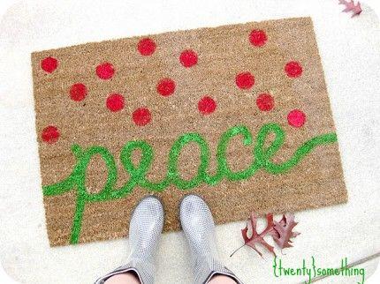 Holiday Painted Rug via Craft Gossip from Twenty Something