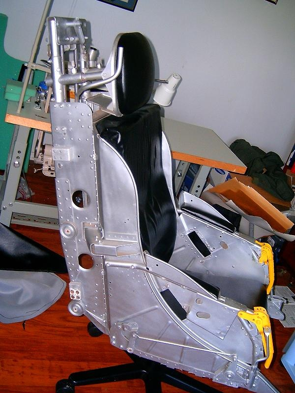 F-86 Ejection seat converted into and office chair.