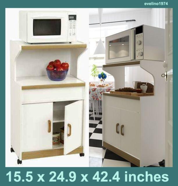 Microwave Work Center Practical Shelf Kitchen Storage Trolley Furniture Cabinet   eBay