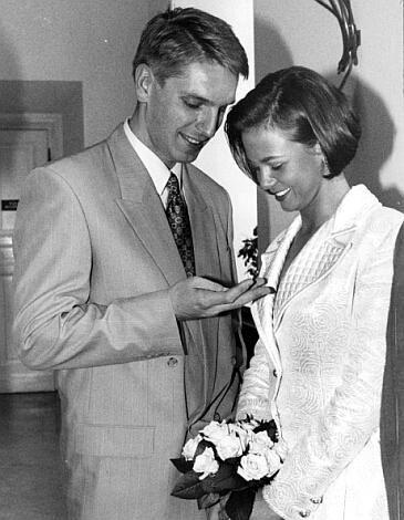 Kinga Rusin i Tomasz Lis,  ślub (1994)