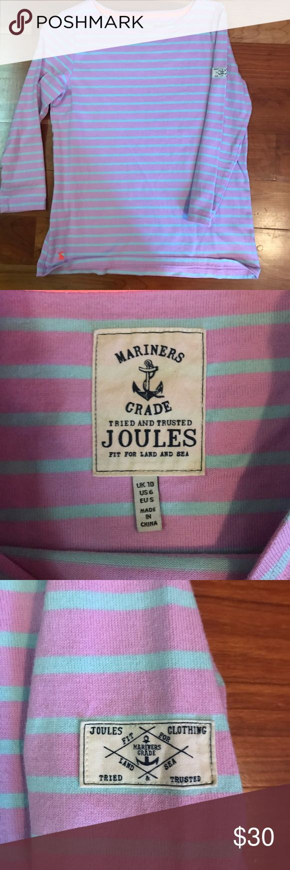 Joules Striped Knit Shirt Joules shirt....bought in England. Worn Once! Feel free to offer! Fits like a size small Joules Tops