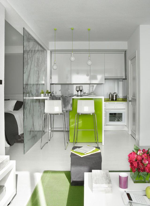 Дизайн маленьких квартир - фотогалерея квартиры 40 кв м в Мадриде