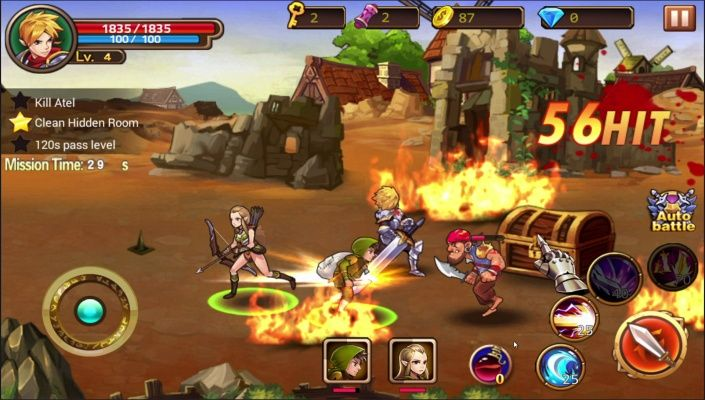 Brave Fighter2 Frontier Free is a Android Free-to-play, Role Playing RPG, Multiplayer Game featuring variety of roles and mercenaries.