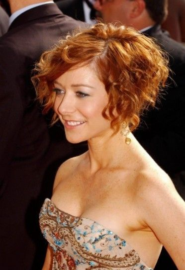 cortes de pelo rizado escalado fotos de peinados ella