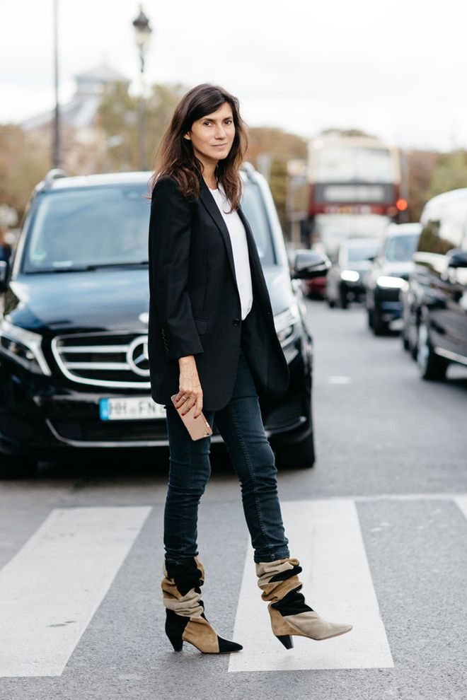 Emmanuelle Alt à la Fashion Week printemps-été 2017