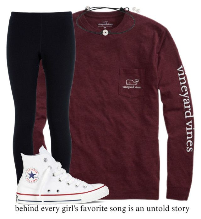 """❤️"" by kreeves7 ❤ liked on Polyvore featuring Vineyard Vines, NIKE, Converse and Carolee"
