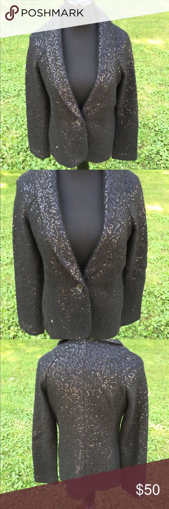 Banana Republic Blazer Stunning sequined Blazer. Like new. Never worn.  Perfect fall piece! Massive closet clean out! Items may be wrinkled from storage. Sellers disclaimer: A few bad apples ruin it for the bunch, so for buyer and seller protection, I record the condition of each item at packaging & shipment. No offline transactions. Spammers will be reported and blocked. No trades. Lowball offers will be immediately declined. I make every effort to ship within two business days. Banana…