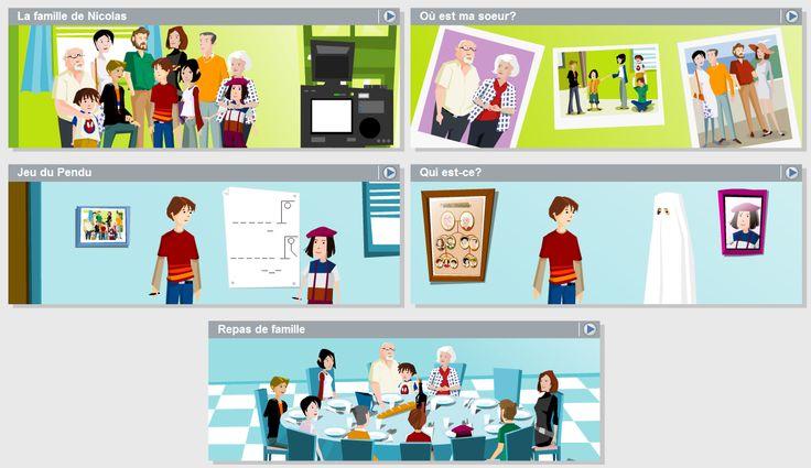 La famille - Site interactive pour pratiquer le vocabulaire de la famille.  Visuels excellents et bande sonore!