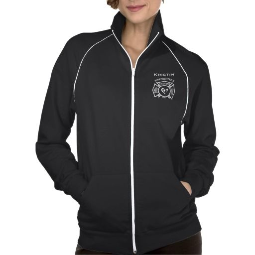 Firefighter Girlfriends Fleece Track Jacket in XS (runs straight to large). remove back picture, add name in Gothic Medium size 5