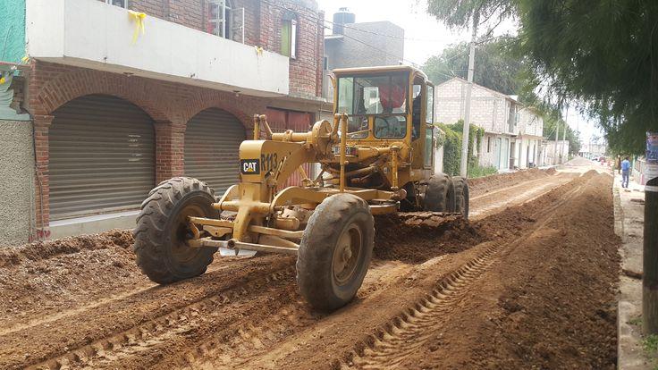 Trabajo de Pavimentación en Av. Ferrocarril.  Tequixquiac Edo. de México