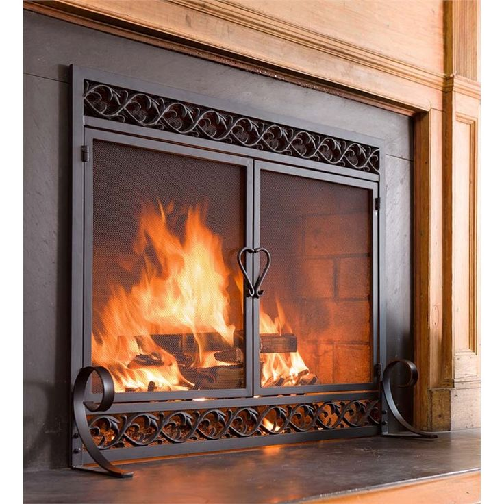 Fireplace Design large fireplace screen : 26 best Iron fireplace screens images on Pinterest