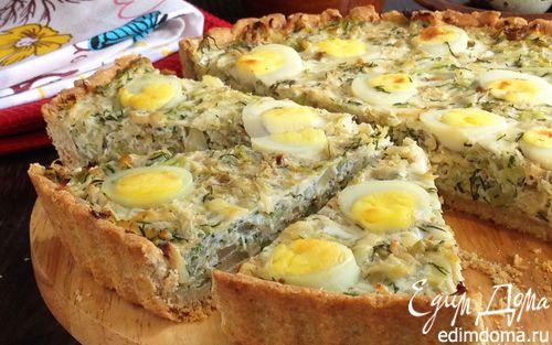 Киш из цельнозерновой муки с капустой и яйцом | Кулинарные рецепты от «Едим дома!»