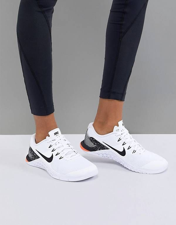good texture competitive price lowest price Nike Training Metcon Trainers In White And Red   Womens workout shoes