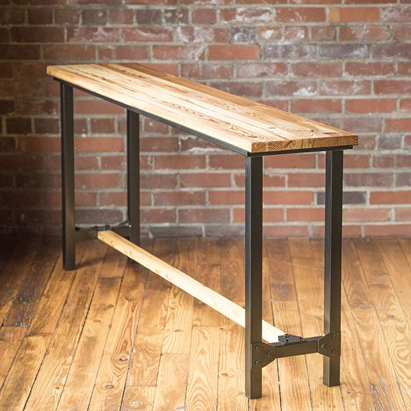 Belmont Collection - Console Table.  This industrial style reclaimed wood piece uses both historic wood and metal for the perfect new modern feel.