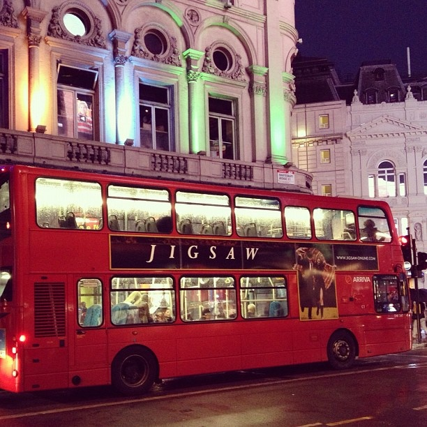 Spotted in London... The Jigsaw bus! If you see it out and about, send us a snap on Twitter or Instagram @ insidejigsaw and hashtag #jigsawbus!