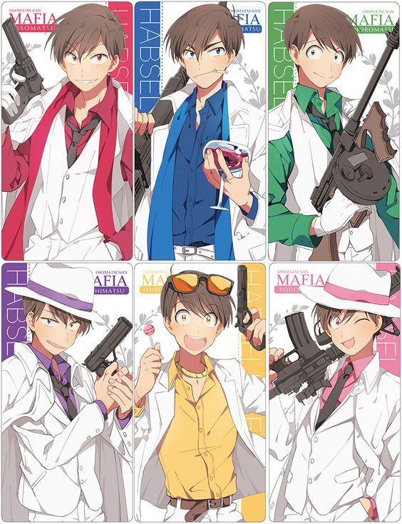OSOMATSU-SAN, Fanart, Twin 6 Matsuno Family, Mafia-Matsu
