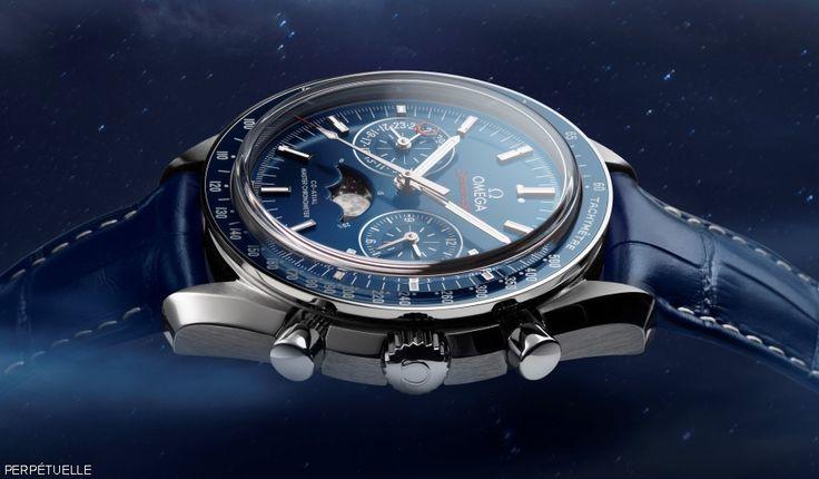 Omega Speedmaster Moonphase Master Chronometer - sideview - Perpetuelle