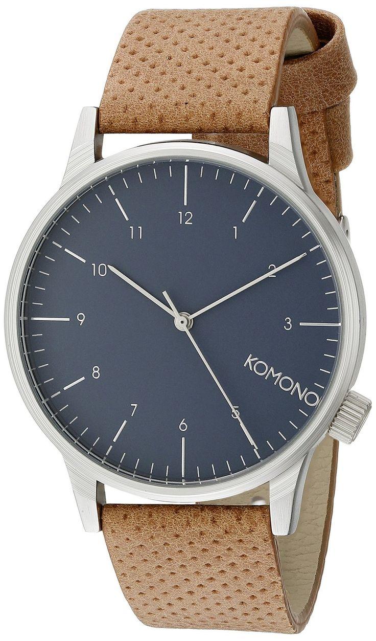 AmazonSmile: KOMONO Unisex KOM-W2000 Winston Analog Display Japanese Quartz Brown Watch: Komono: Watches