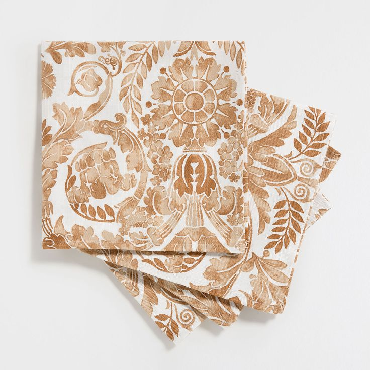 Beige Branches-Print Napkins (Set of 4) - Jaipur Collection - Tableware | Zara Home Spain