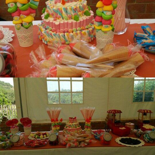 Mesa dulce para una boda