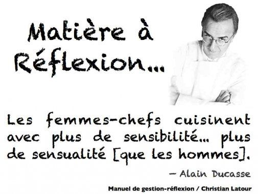 Pourquoi y a-t-il si peu de femmes dans les cuisines des restaurants... selon Alain Ducasse. - La Revue HRI : HOTELS, RESTAURANTS et INSTITUTIONS