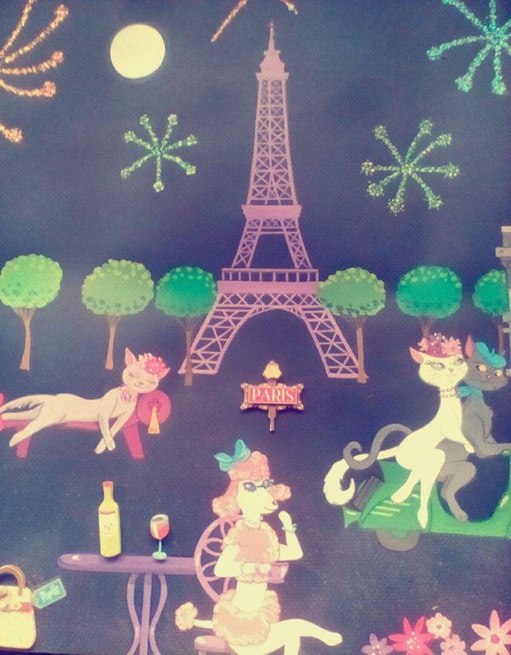 Eiffel tower fireworks by on
