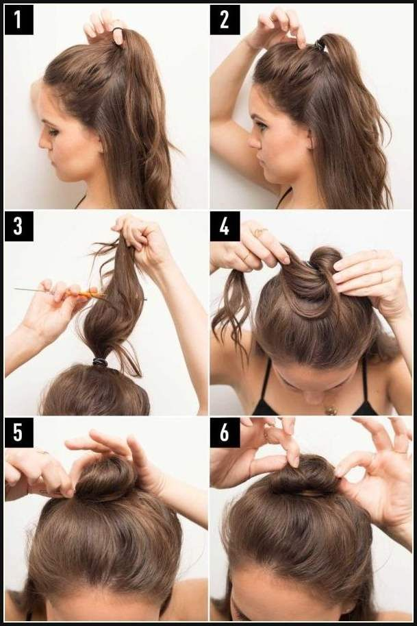 16 Coole Art Und Weise Anzeigen Ihren Blick Mit Einems Halben Einfache Frisuren Half Bun Hairstyles Teased Hair Hair Styles