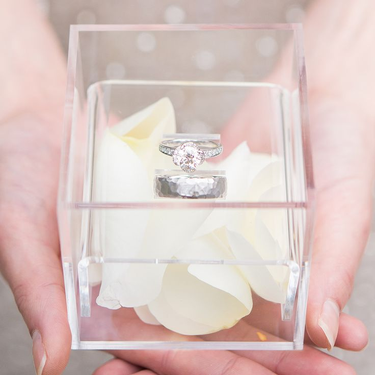 lucite wedding rings