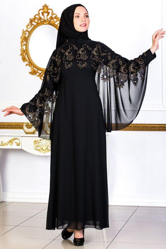 4358b03d58f42 En Guzel Sedanur.com Tesettur Abiye Elbise Modelleri -dantel-detayli-pelerinli-