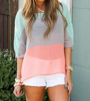 Cute: Colors Combos, White Shorts, Summer Outfit, Style, Pastel Colours, Spring Colors, Colors Block, Pastel Colors, Summer Colors