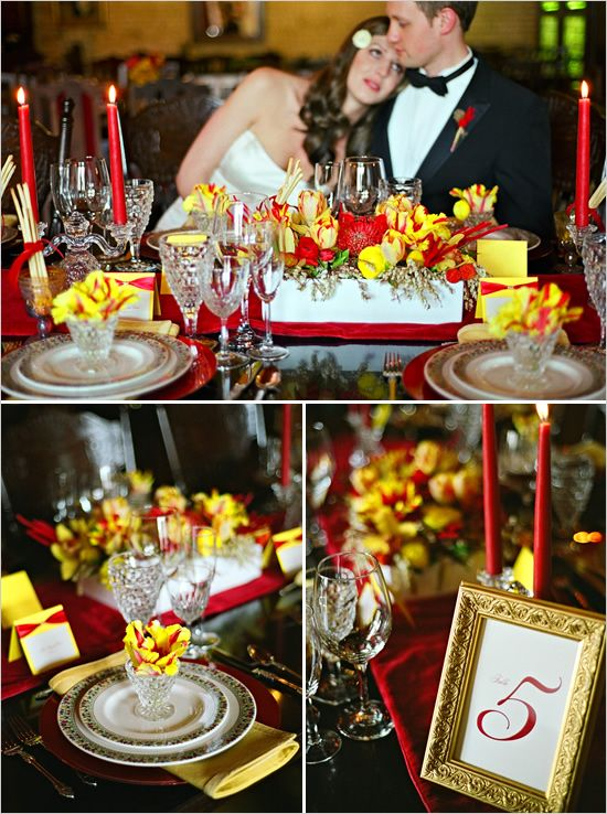 #Wedding #Colours... 3 main colours:- Black, white, lemon + 2 accent colours:- hot red & jungle yellow ... More wedding ideas for brides & bridesmaids, grooms & groomsmen, parents & planners ... https://itunes.apple.com/us/app/the-gold-wedding-planner/id498112599?ls=1=8 … plus how to organise an entire wedding, without overspending ♥ The Gold Wedding Planner iPhone App ♥