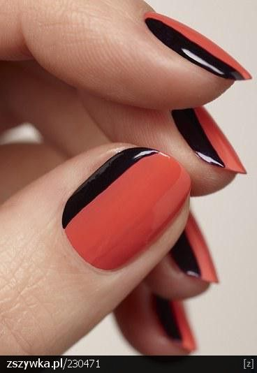 nail art: Nails Art, Nailart, French Manicures, Nails Design, Color, Black Nails, Nails Ideas, French Tips, French Nails