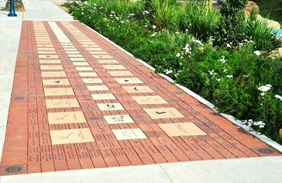 Fundraiser Help: Fundraising With Custom Bricks - Raise large amounts of money with attractive placements of laser-engraved bricks.