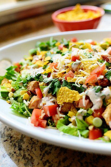 Chicken Taco Salad. Splendidly scrumptious and so darn easy.