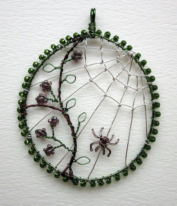 Autumn Morn pendant by LouiseGoodchild on Etsy, £28.00