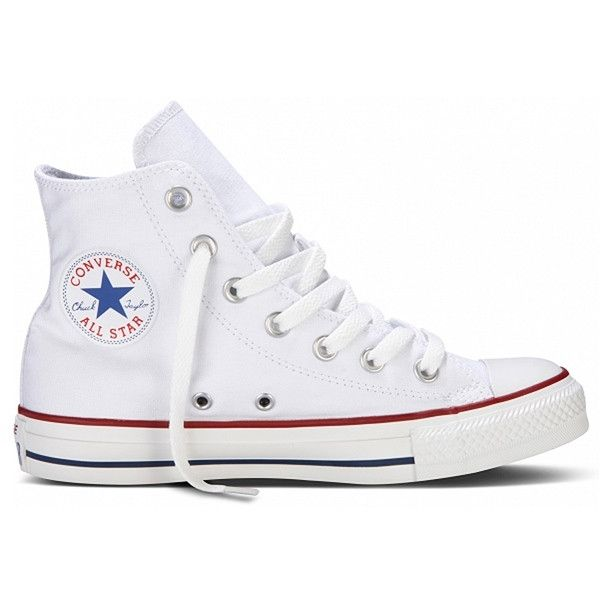Rock a cool classic in Chuck Taylor High Top by Converse! It's 'the' timeless sneaker featuring a canvas upper with a traditional white lace-up, white rubber cap toe, white sidewall and All-Star logo!