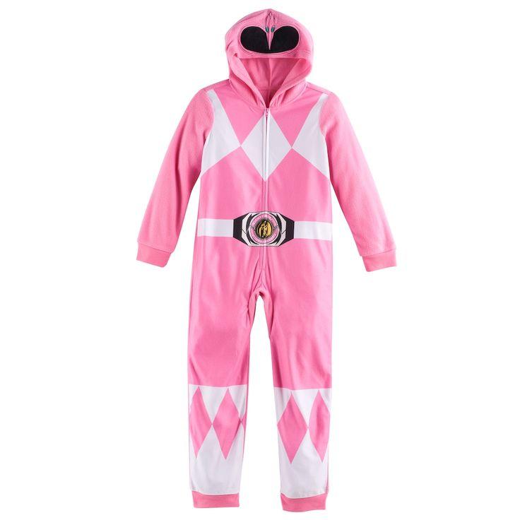 Girls 6-10 Pink Power Ranger One-Piece Pajamas