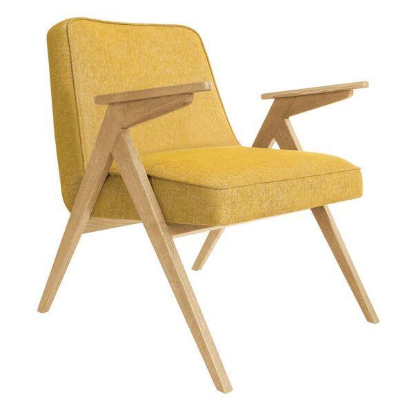 fauteuil bunny _ 366 concept _ fauteuil pieds compas_loft moutarde _ slavia vintage