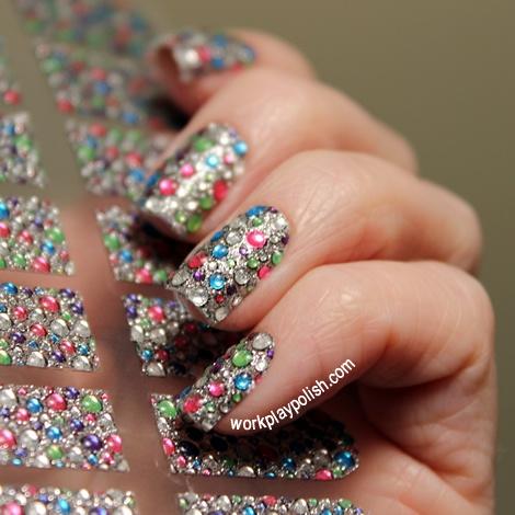 "Dashing Diva Design FX bling nail appliques in ""Carnivale"""