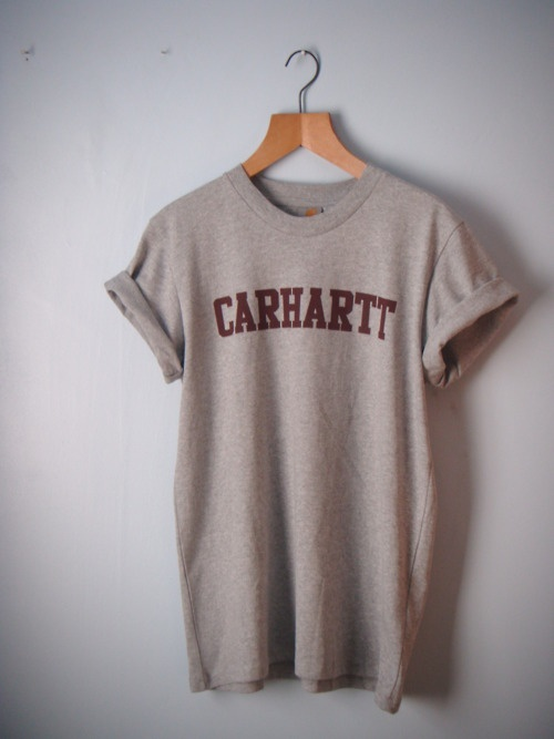 Carhartt Shirt, can you just imagine wearing this around, with a pair of shorts or to bed, with a ponytail. He'd think it was sexy but sweet.