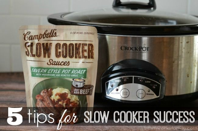 5 Tips for Slow Cooker Success - as the weather gets hotter, you won't want to turn on that oven. Let the slow cooker do all of the work for you!