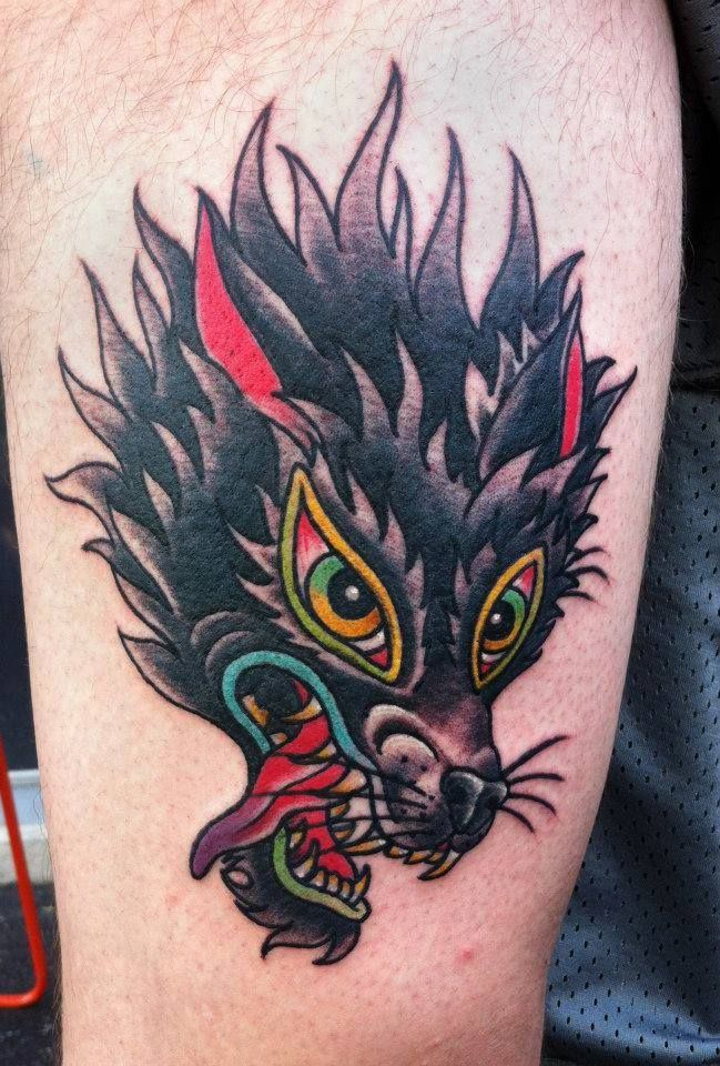 17 best images about tattoos on pinterest lion tattoo for Wolf tattoo traditional