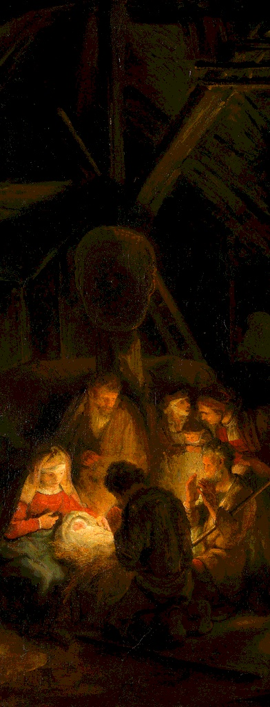 The Nativity by a Pupil of Rembrandt