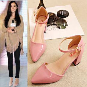 [Special] каждый день 2016 года женские летние сандалии с толщиной с заостренными женской обуви Баотоу полые слова пряжки сандалии - глобальной станции Taobao