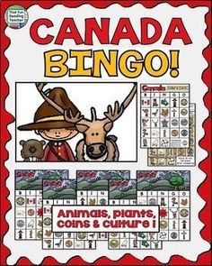 Celebrate #Canada with this Canada BINGO game! $