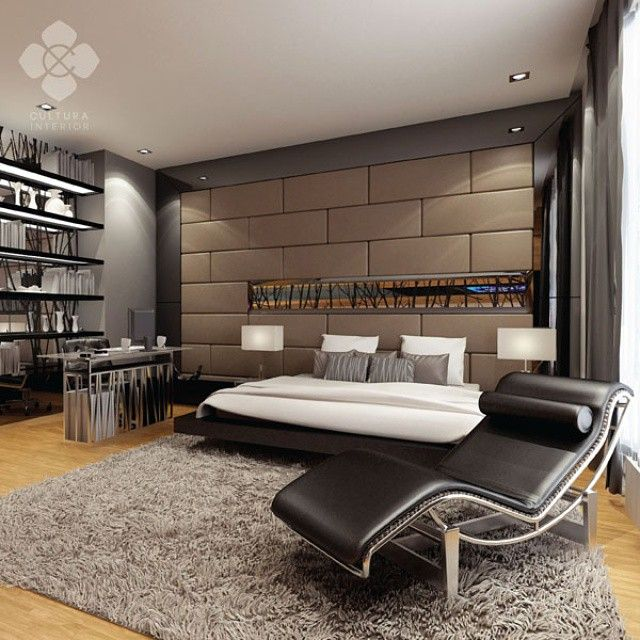 Cozy and elegant master bedroom design with earthy colors and warm lighting. Perfect place to retire for the day.  Designed by @culturainterior  #interior #interiordesign #bedroom #bedroominterior #houseinterior #interiorsemarang #interiorindonesia #culturainterior