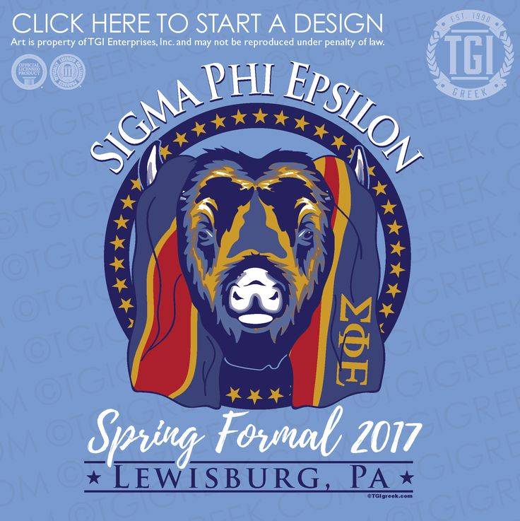Sigma Phi Epsilon | SigEp | ΣΦΕ | Spring Formal | Formal | TGI Greek | Greek Apparel | Custom Apparel | Fraternity Tee Shirts | Fraternity T-shirts | Custom T-Shirts