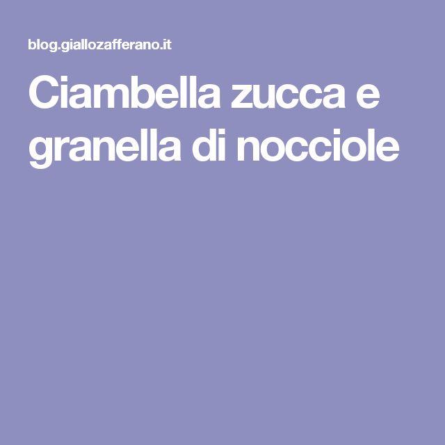 Ciambella zucca e granella di nocciole