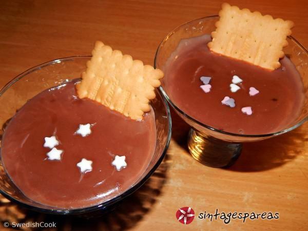 Σοκολατένιο ρυζόγαλο #sintagespareas