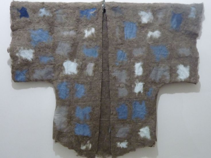 denim with felt garment by Hulya ILGIN